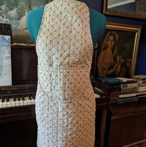 Vintage quilted full apron